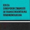 Kriza evropskih znanosti in transcendentalna fenomenologija: (uvod v fenomenološko filozofijo)